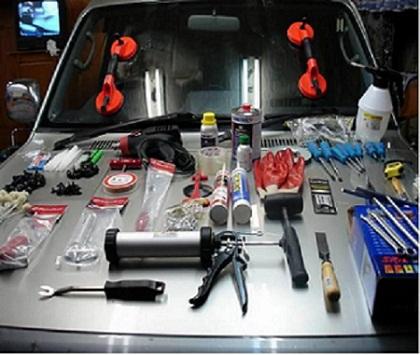 Инструменты для замены лобового стекла