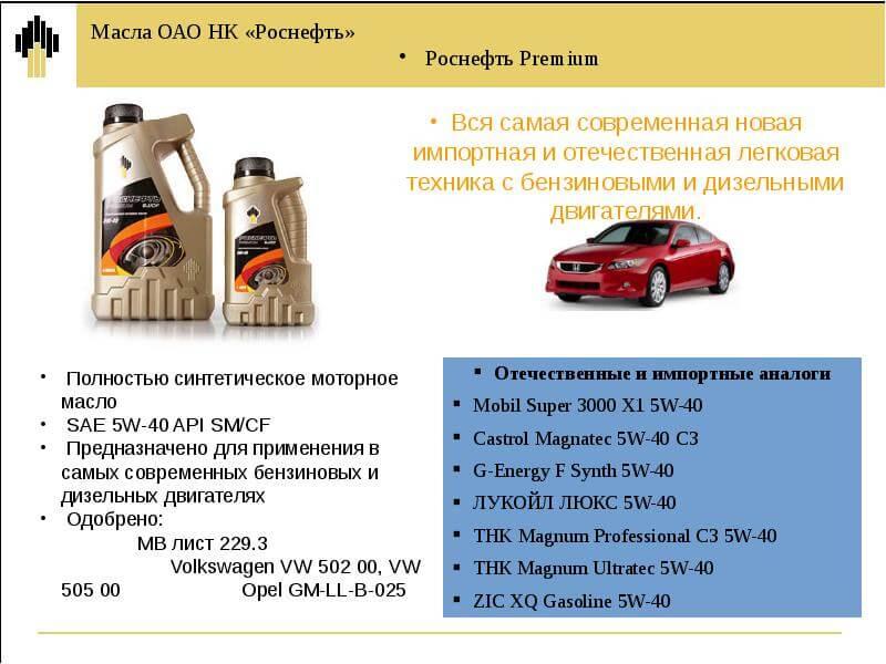 Одобрение моторного масла