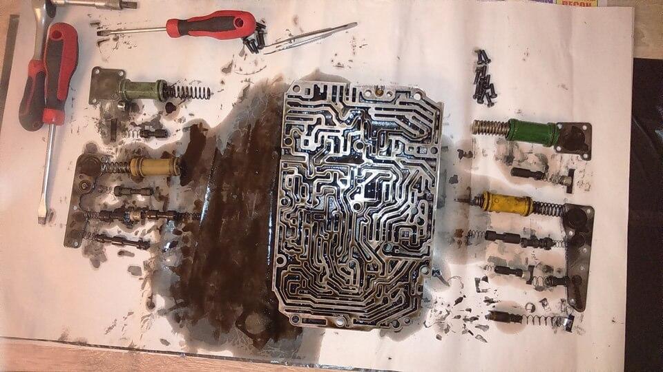 Так выглядит разобранный гидроблок коробок семейства 722