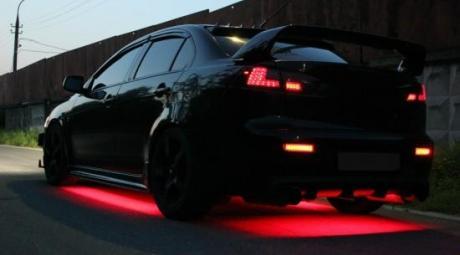 Подсветка днища автомобиля из светодиодов