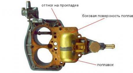 Поплавковая камера карбюратора