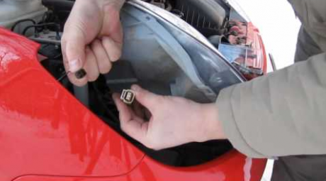 Как заменить лампу переднего сигнала поворота