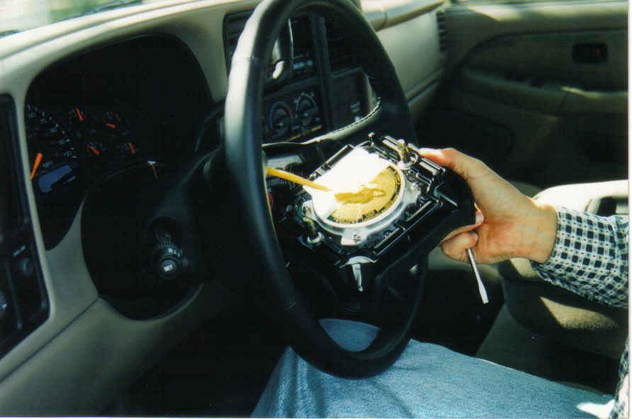 Блок подушки безопасности на руле