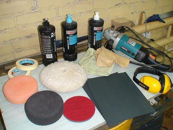 Инструменты для полировки автомобиля