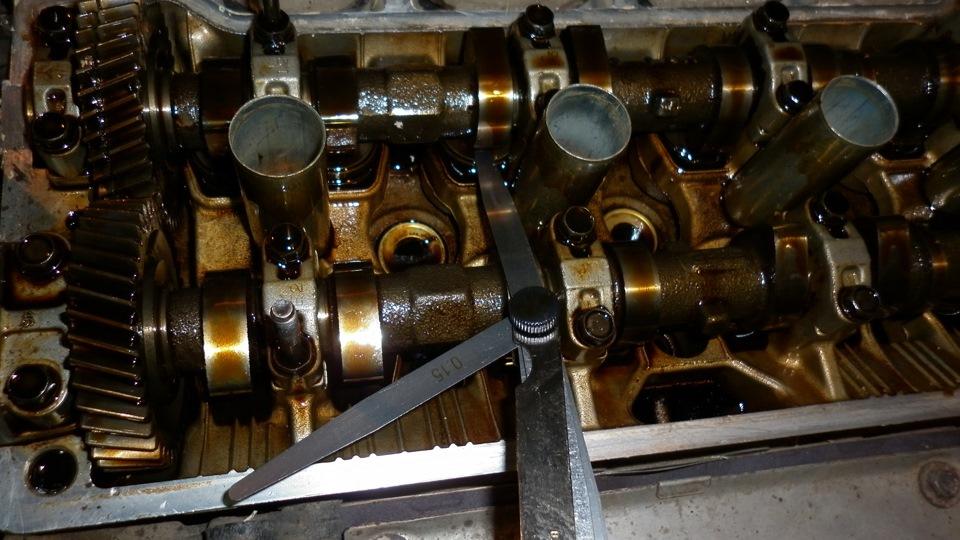 Измерение теплового зазора на двухвальном моторе