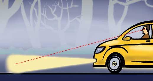 Как ехать в тумане на авто
