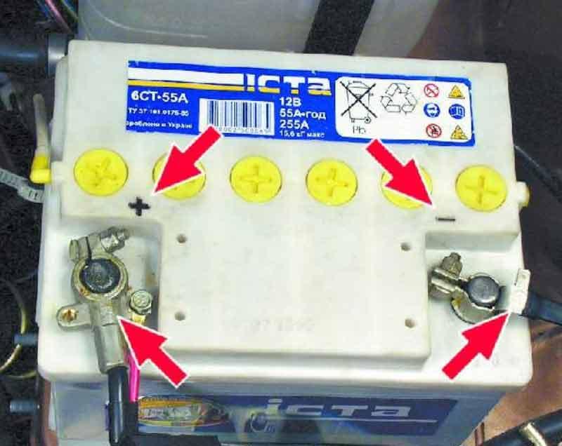 Как подключить клеммы аккумулятора