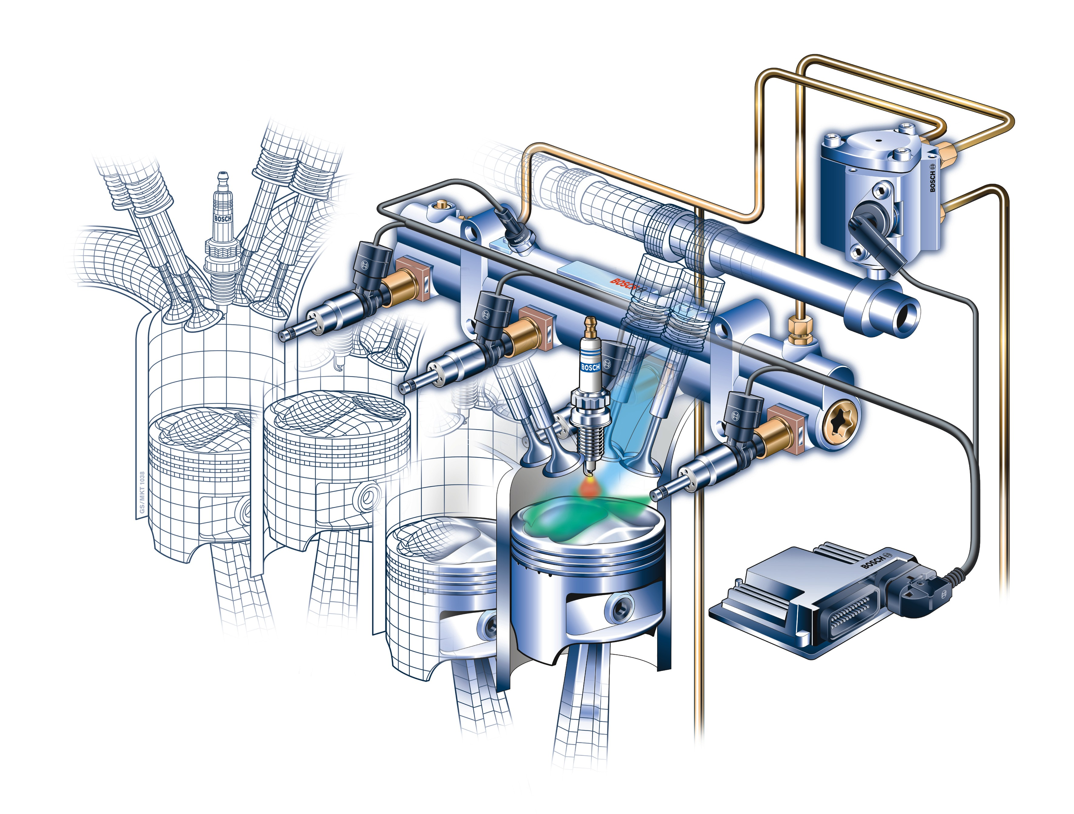 Как работает инжекторный двигатель