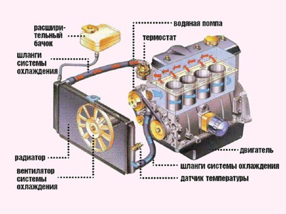 Как работает система охлаждения двигателя