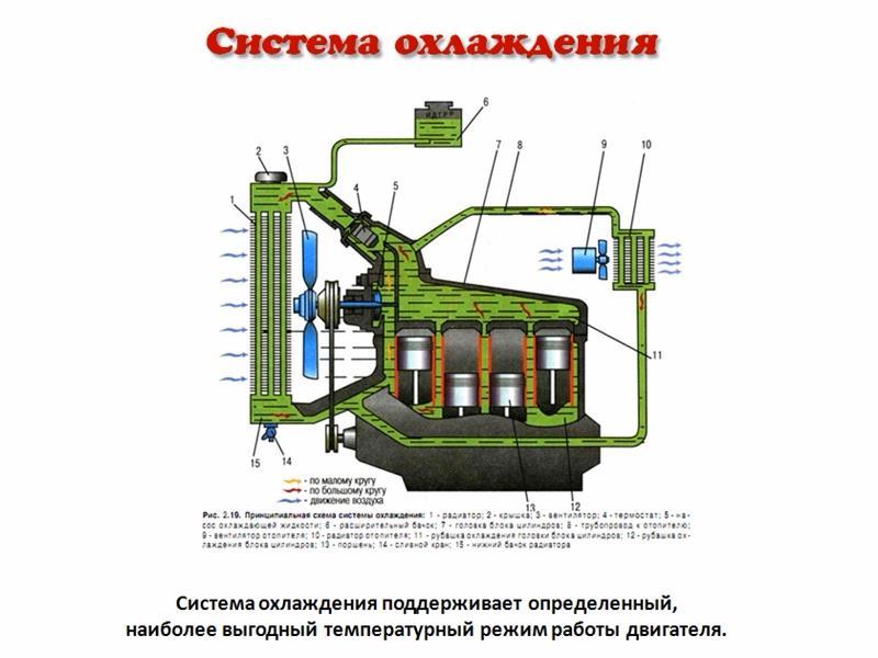 Как работает система охлаждения двигателя автомобиля