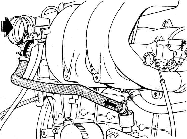 Клапан системы вентиляции картера двигателя