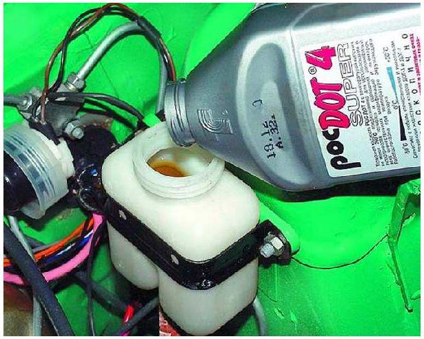 контроль уровня тормозной жидкости