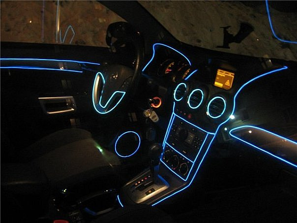 Контурная подсветка салона автомобиля