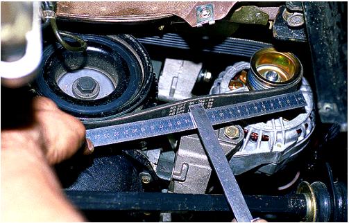 Обрыв ремня привода генератора