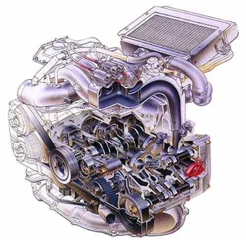 Оппозитный двигатель от Subaru