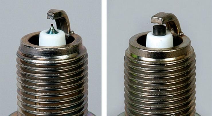Отличия иридиевой и никелевой (платиновой) свечей