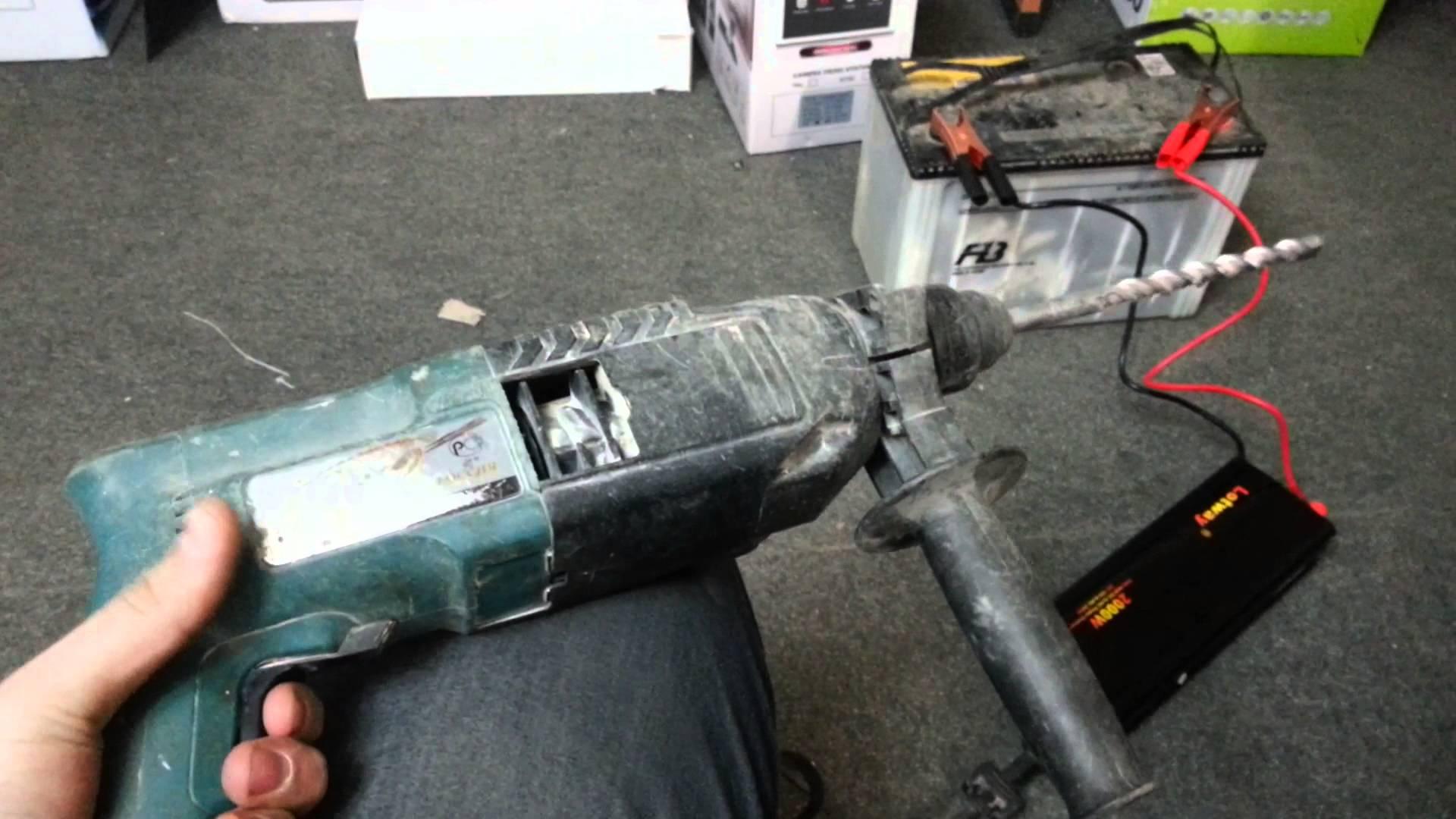Подключение перфоратора с помощью инвертора
