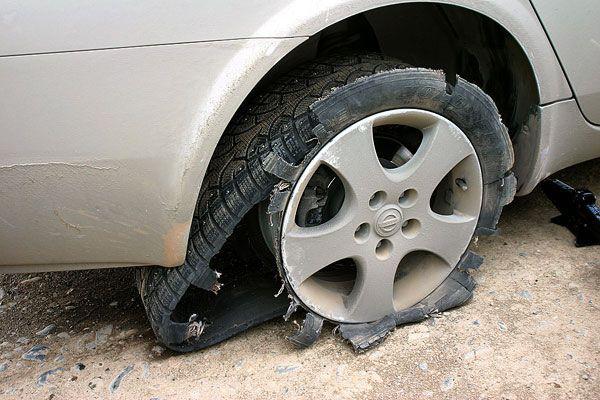 Последствия неправильной эксплуатации шины после ремонта бокового пореза
