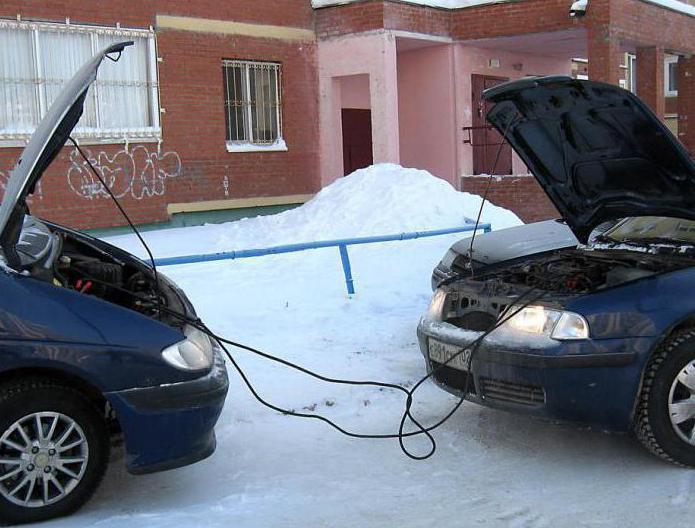 Прикуривание от другого автомобиля