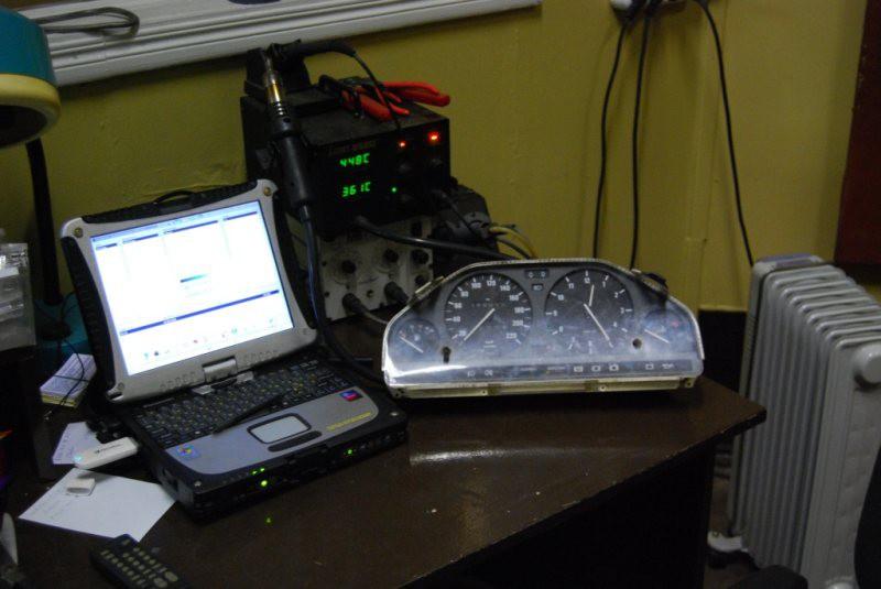 Проверка идикатора электронного спидометра с помощью сканера