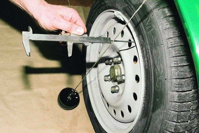 Проверка развала колес