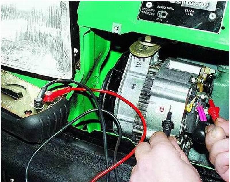 Проверка регулятора напряжения ВАЗ 2110