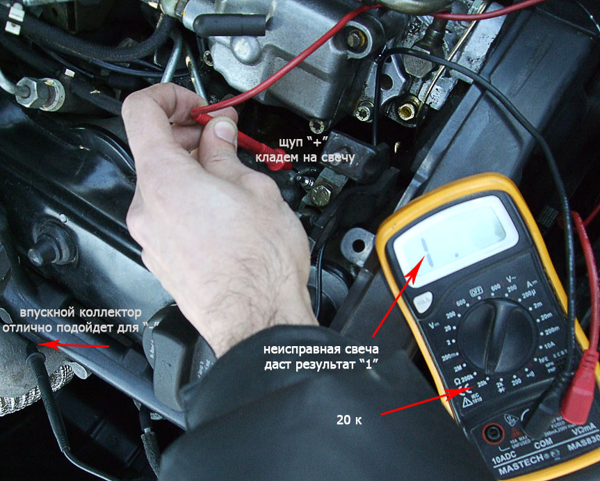 Проверка свечей накаливания на дизеле мультиметром