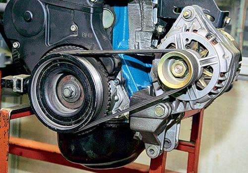 Ремень генератора на 8-клапанном моторе без ГУР
