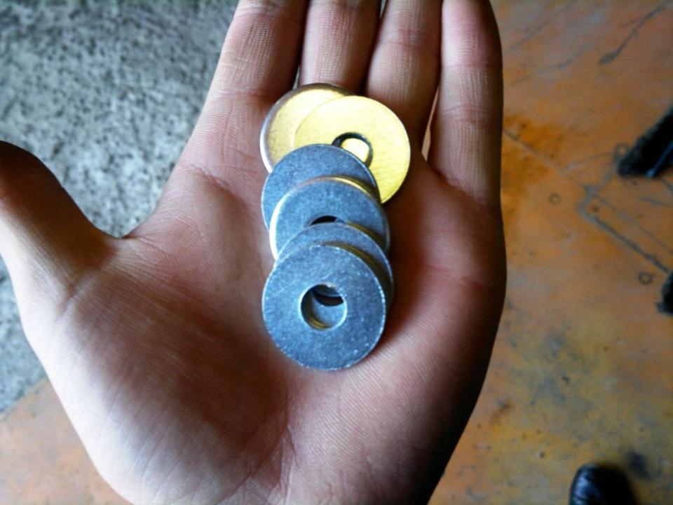 Шайбы влияющие на величину развала колес