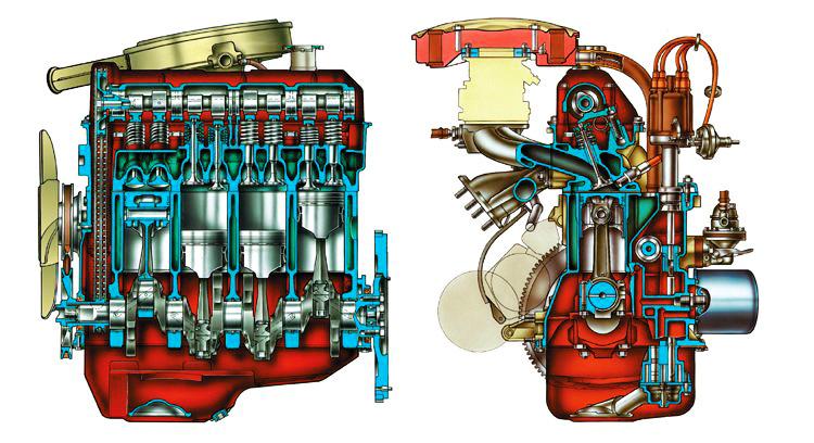 Схема двигателя ВАЗ 2107