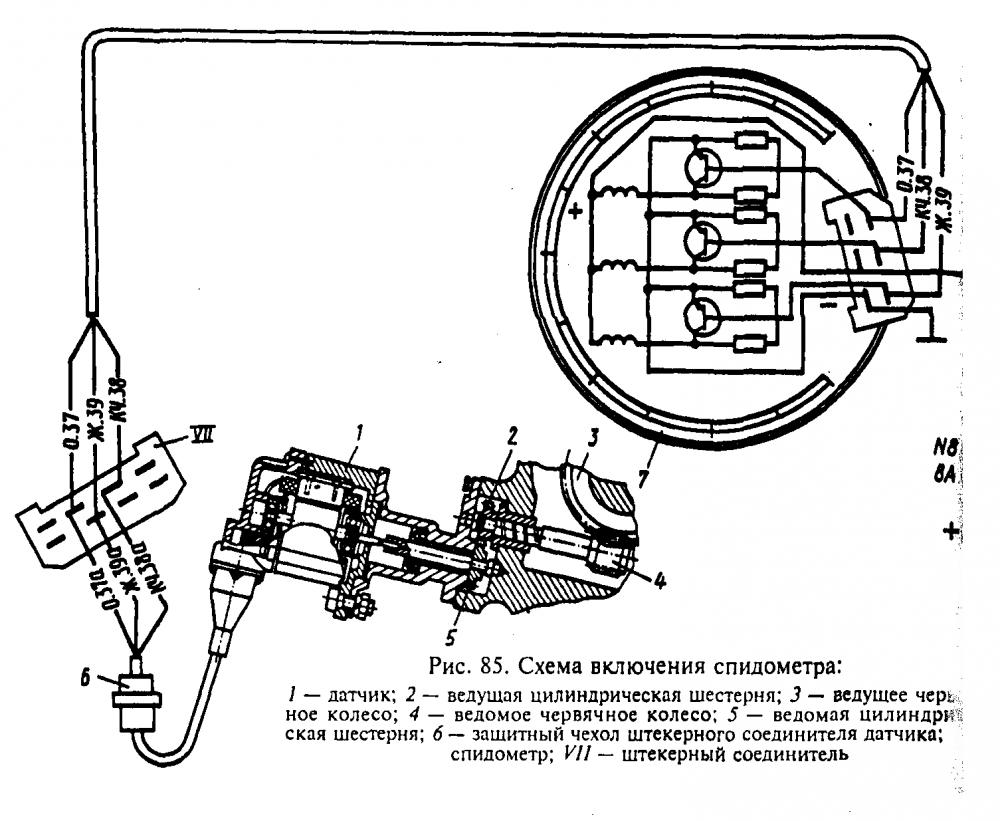 Схема и устройство спидометра