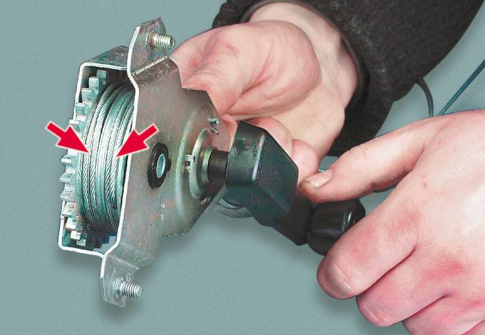 Схема установки тросового стекло подъемника на ВАЗ