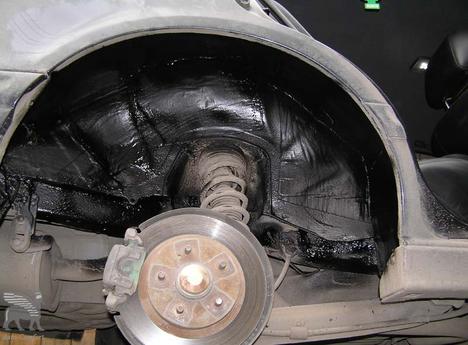 Шумоизоляция колесных арок автомобиля