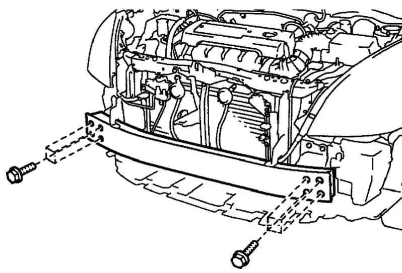 Совпадение крепежных отверстий кузова и усилителя бампера