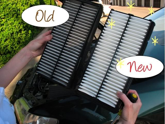 Старый и новый воздушные фильтры