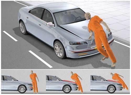 Столкновение автомобиля и пешехода