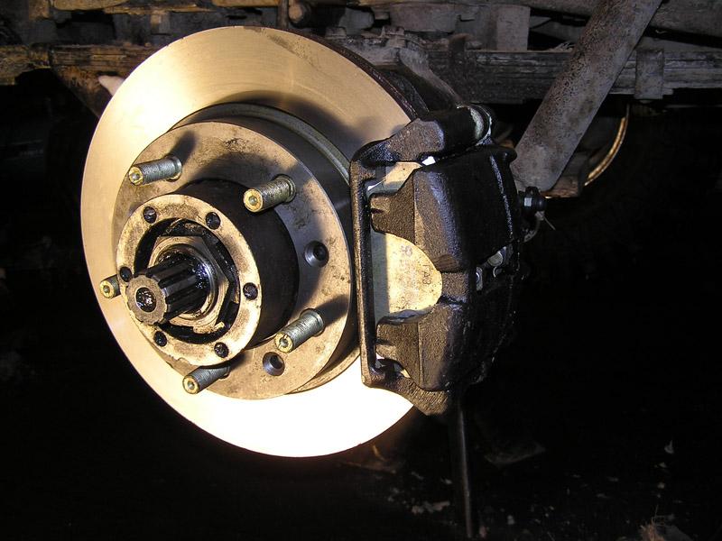 установка дисковых тормозов уаз