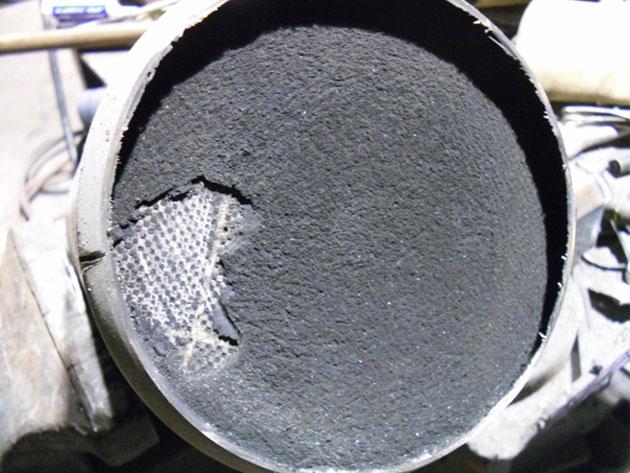 Забитый сажевый фильтр