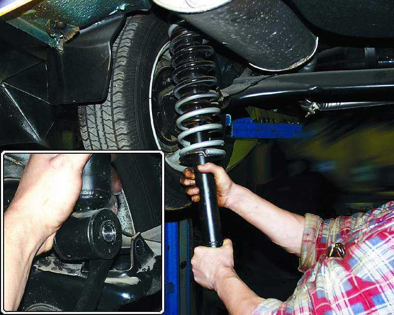 Замена переднего амортизатора ВАЗ 2110