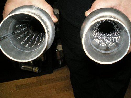 Замена выхлопной трубы на прямоточную