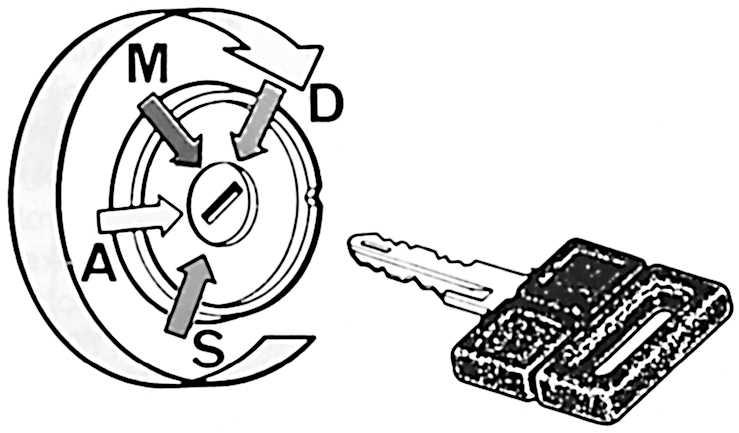 Запуск двигателя с ключом