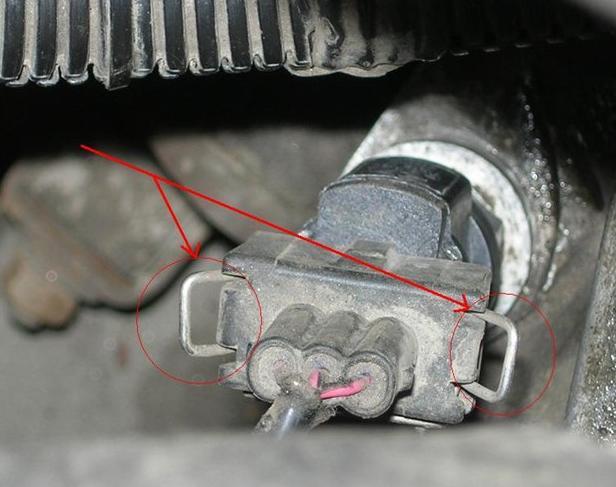 Защелки крепления колодки проводов датчика скорости